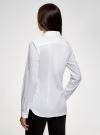Рубашка с декорированным воротником oodji для женщины (белый), 13K00006/42785/1000N - вид 3
