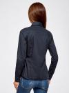Рубашка базовая из хлопка oodji для женщины (синий), 11442121-5B/43609/7900N - вид 3