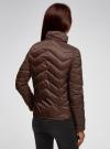 Куртка стеганая с воротником-стойкой oodji для женщины (коричневый), 10203063/18268/3900N - вид 3