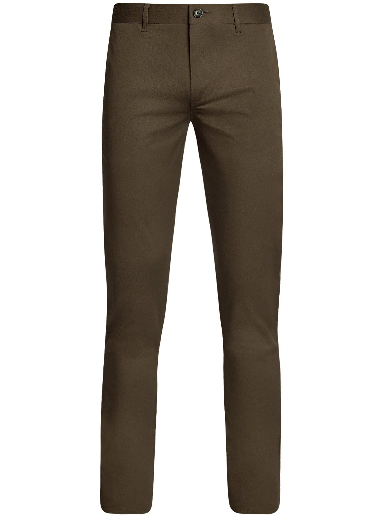 Брюки-чиносы хлопковые oodji для мужчины (коричневый), 2B200015M/21822N/3700N