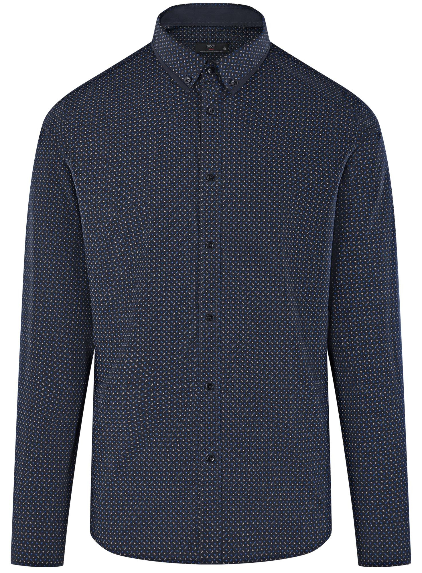 Рубашка приталенная с длинным рукавом oodji для мужчины (синий), 3L110387M/44425N/7975G