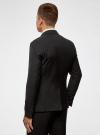 Пиджак классический oodji для мужчины (черный), 2B420016M/46317N/2900N - вид 3