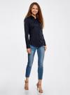 Рубашка базовая с нагрудным карманом oodji для женщины (синий), 11403205-9/26357/7949B - вид 6
