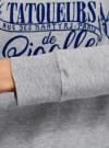Свитшот хлопковый с надписью oodji для женщины (серый), 14807021-13/46919/2079Z - вид 5