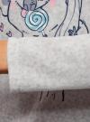 Джемпер прямого силуэта с принтом oodji для женщины (серый), 59811012-2/24336/2065P - вид 5