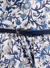 Сарафан принтованный с контрастным ремнем oodji для женщины (белый), 11902101-6/14912/1075F - вид 5