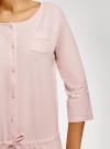 Комбинезон хлопковый с аппликацией oodji для женщины (розовый), 59809007/46154/4110P - вид 5