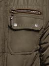 Куртка стеганая с накладными карманами oodji для мужчины (коричневый), 1L111044M/39877N/3900N - вид 5