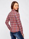 Рубашка в клетку хлопковая oodji для женщины (красный), 11405122-1/33564/4579C - вид 3