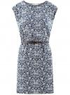 Платье принтованное из вискозы oodji для женщины (синий), 11910073-2/45470/7912F - вид 6