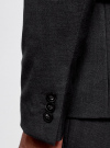 Пиджак базовый приталенный oodji для мужчины (серый), 2B420019M/44320N/2500M - вид 5