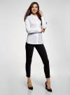 Рубашка с декорированным воротником oodji для женщины (белый), 13K00006/42785/1000N - вид 6