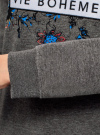 Свитшот прямого силуэта с принтом oodji для женщины (серый), 14807017-2/46885/2529Z - вид 5