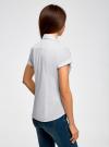Рубашка базовая с коротким рукавом oodji для женщины (белый), 11402084-5B/45510/1000N - вид 3