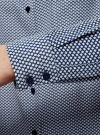 Блузка прямого силуэта с нагрудным карманом oodji для женщины (синий), 11411134B/46123/7912G - вид 5