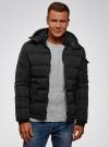 Куртка на молнии с капюшоном oodji для мужчины (черный), 1L112030M/48602N/2900N - вид 2