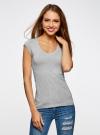 Комплект из двух базовых футболок oodji для женщины (серый), 14711002T2/46157/2000M - вид 2