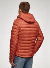 Куртка стеганая с капюшоном oodji для мужчины (оранжевый), 1B112009M/25278N/5500N - вид 3