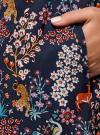 Платье вискозное с ремнем oodji для женщины (синий), 11900180B/48458/7919A - вид 5