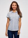 Рубашка хлопковая с нагрудными карманами oodji для женщины (белый), 13L02001B/45510/1279G - вид 2