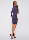Платье вязаное базовое oodji для женщины (синий), 73912217-2B/33506/7900N - вид 3