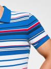 Поло в полоску oodji для мужчины (синий), 5L412208M/39486N/7510S - вид 5