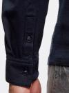 Поло хлопковое с длинным рукавом oodji для мужчины (синий), 5L411011M/44122N/7910J - вид 5