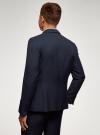 Пиджак базовый приталенный oodji для мужчины (синий), 2B420029M/49270N/7900N - вид 3