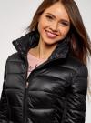 Куртка стеганая с воротником-стойкой oodji для женщины (черный), 10203031-1/18268/2900N - вид 4