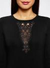 Платье с декоративной вставкой oodji для женщины (черный), 73912220/33506/2900N - вид 4