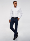 Рубашка базовая из фактурной ткани oodji для мужчины (белый), 3B110020M-1/48379N/1000N - вид 6