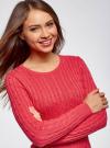 """Джемпер вязаный """"в косичку"""" oodji для женщины (розовый), 73807617/32750/4D00N - вид 4"""