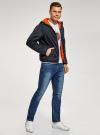 Куртка утепленная с капюшоном oodji для мужчины (синий), 1L512022M/44334N/7900N - вид 6