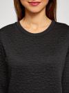 Свитшот базовый из фактурной ткани oodji для женщины (черный), 24801010-4/42316/2900N - вид 4