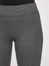 Легинсы хлопковые с лампасами oodji для женщины (серый), 18700058/47618/2529Z - вид 5