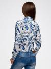 Блузка вискозная с нагрудными карманами oodji для женщины (слоновая кость), 21411115/46436/3079F - вид 3