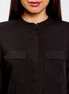 Блузка вискозная с регулировкой длины рукава oodji для женщины (черный), 11403225-2B/26346/2900N - вид 4