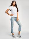 Рубашка хлопковая с нагрудными карманами oodji для женщины (белый), 11402084-3B/12836/1029Q - вид 6
