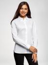 Рубашка с декорированным воротником oodji для женщины (белый), 13K00006/42785/1000N - вид 2