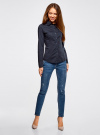 Рубашка базовая из хлопка oodji для женщины (синий), 11442121-5B/43609/7900N - вид 6