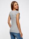 Комплект из двух базовых футболок oodji для женщины (серый), 14711002T2/46157/2000M - вид 3