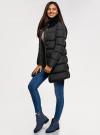 Куртка удлиненная с искусственным мехом на воротнике oodji для женщины (черный), 10203059-1/32754/2901N - вид 6
