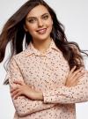 Блузка прямого силуэта с нагрудным карманом oodji для женщины (розовый), 11411134B/46123/4029G - вид 4