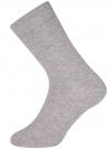 Носки базовые высокие oodji для мужчины (серый), 7B213001M/47469/2300M - вид 2