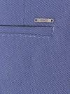Брюки классические slim fit oodji для мужчины (синий), 2L210152M/44064N/7500O - вид 3