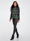 Рубашка в клетку с нагрудными карманами oodji для женщины (зеленый), 11411052-2/45624/6912C - вид 6