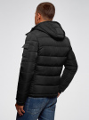 Куртка на молнии с капюшоном oodji для мужчины (черный), 1L112030M/48602N/2900N - вид 3