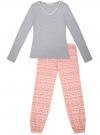 Пижама хлопковая с брюками oodji для женщины (разноцветный), 56002226/46154/2041E