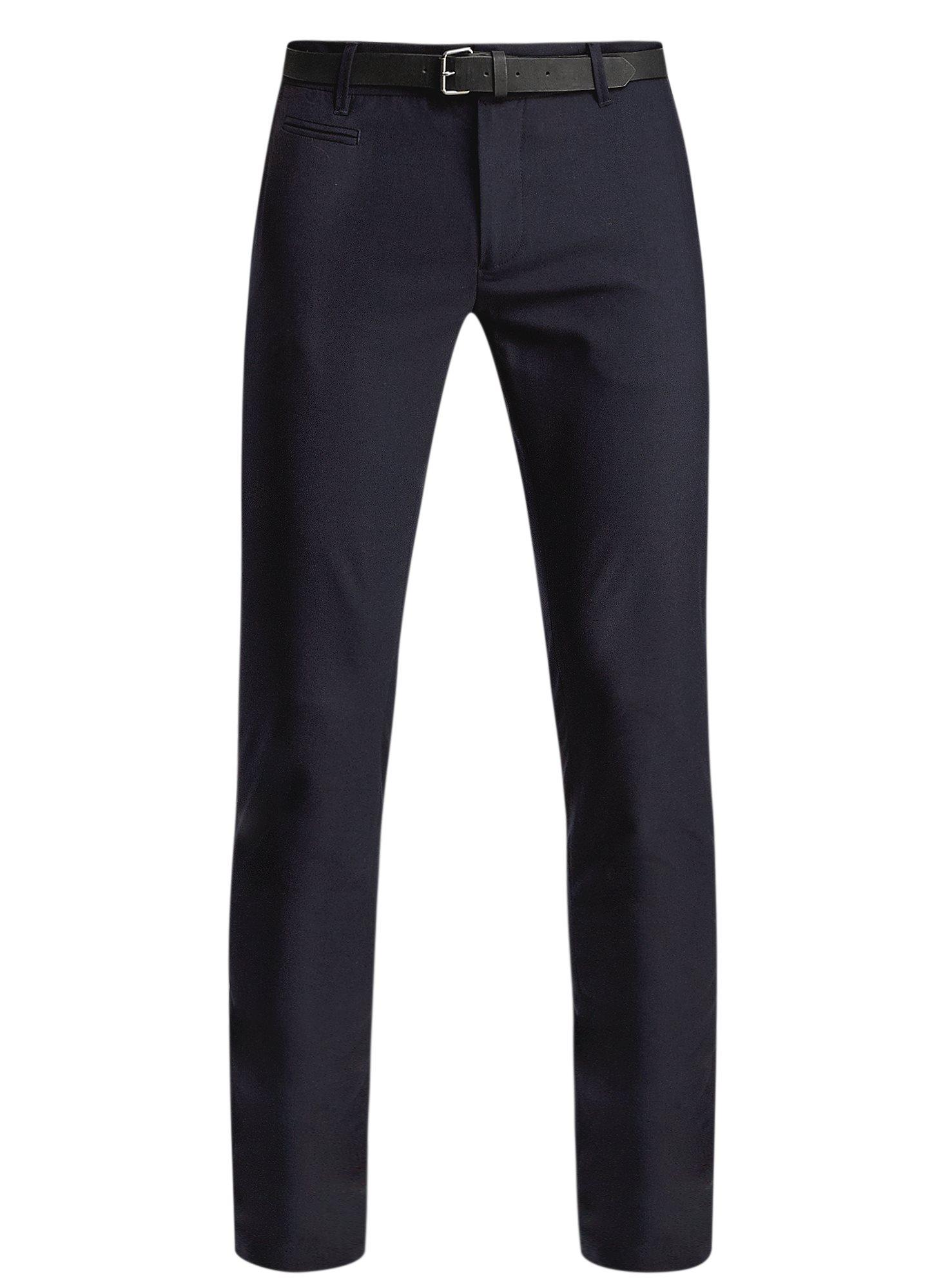 Брюки классические slim fit oodji для мужчины (синий), 2L210166M/44320N/7900O