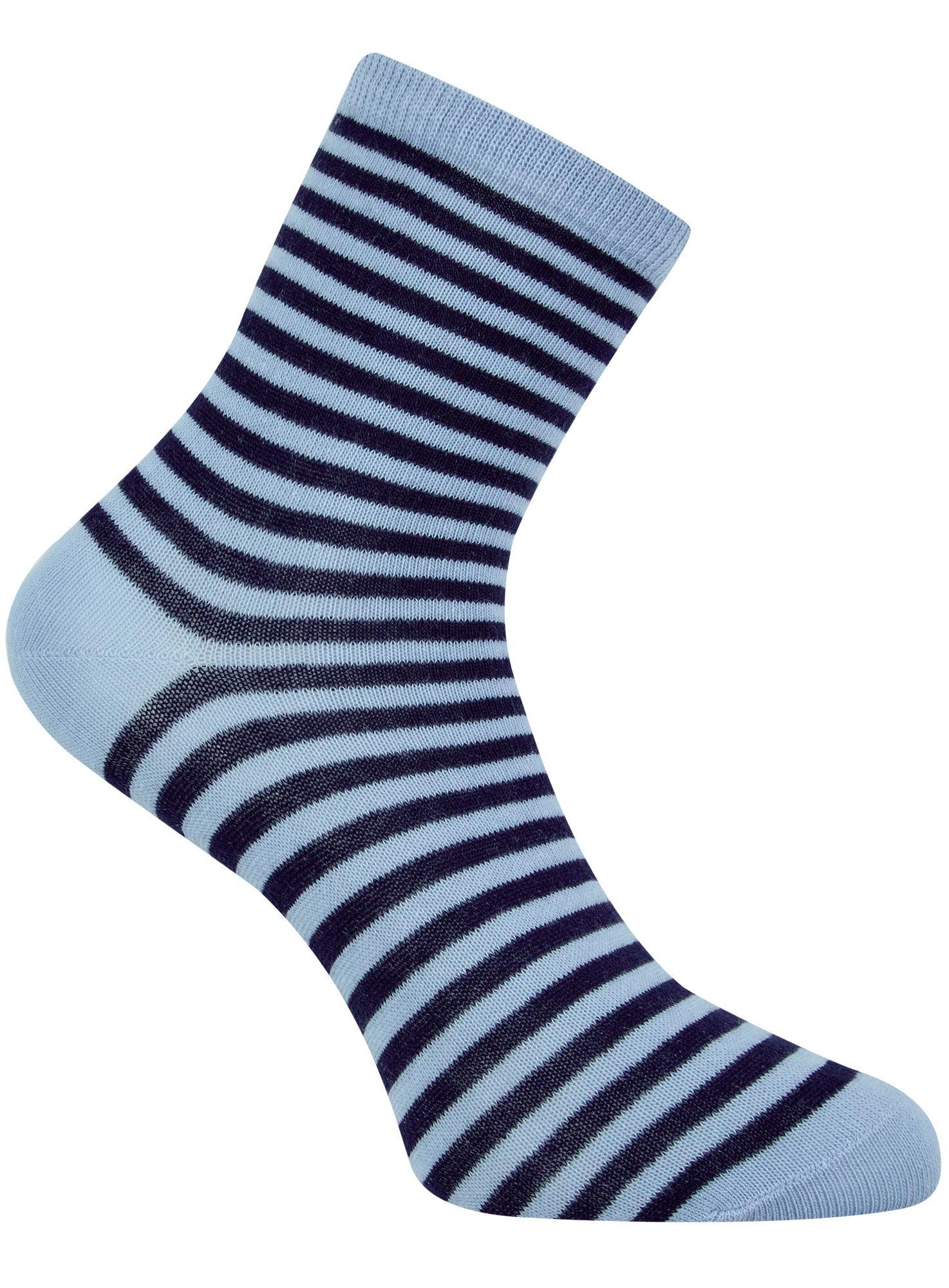 Носки базовые хлопковые oodji для женщины (синий), 57102466B/47469/7079S
